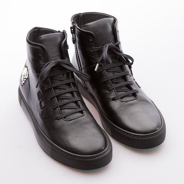 Hammer - Black - Shiny Leather - BUB Leather Shoes