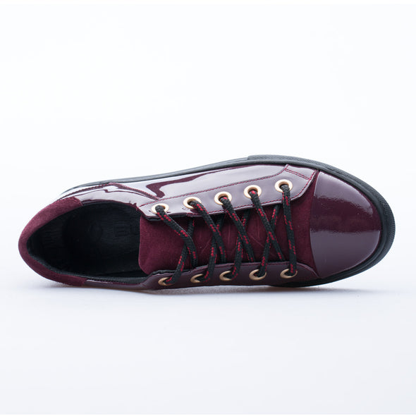 Cecilia - Burgundy - Patent Leather - BUB Leather Shoes