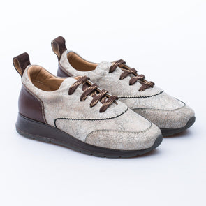 Sonya - Beige & Brown - Leather - BUB Leather Shoes