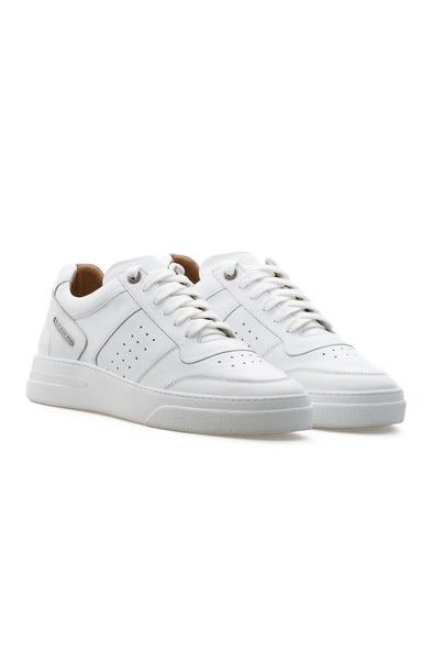 BUB Cray - Pure White - Calf Leather - Men's Sneakers - BUB Leather Shoes