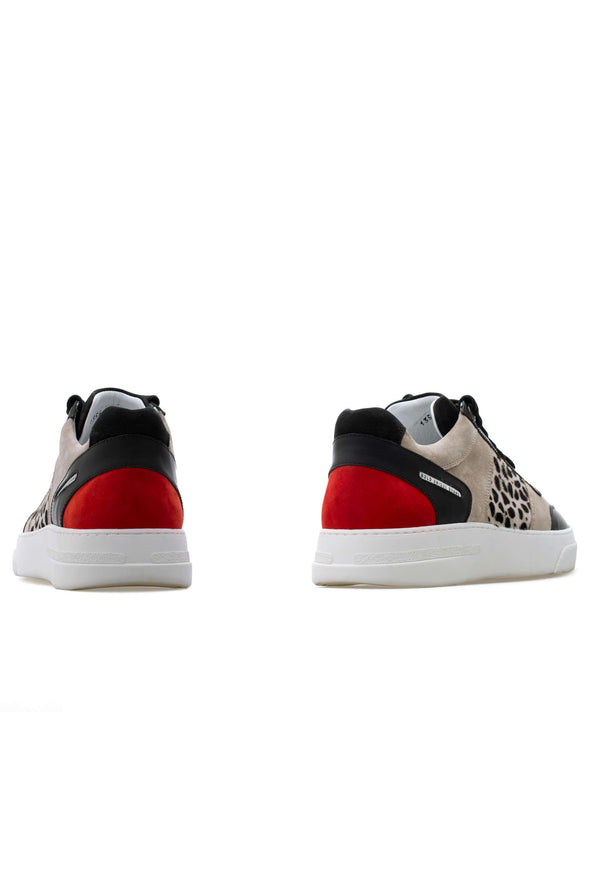 BUB Cray - Flinstones - Suede & Calf Hair & Leather & Nubuck - Women's Sneakers