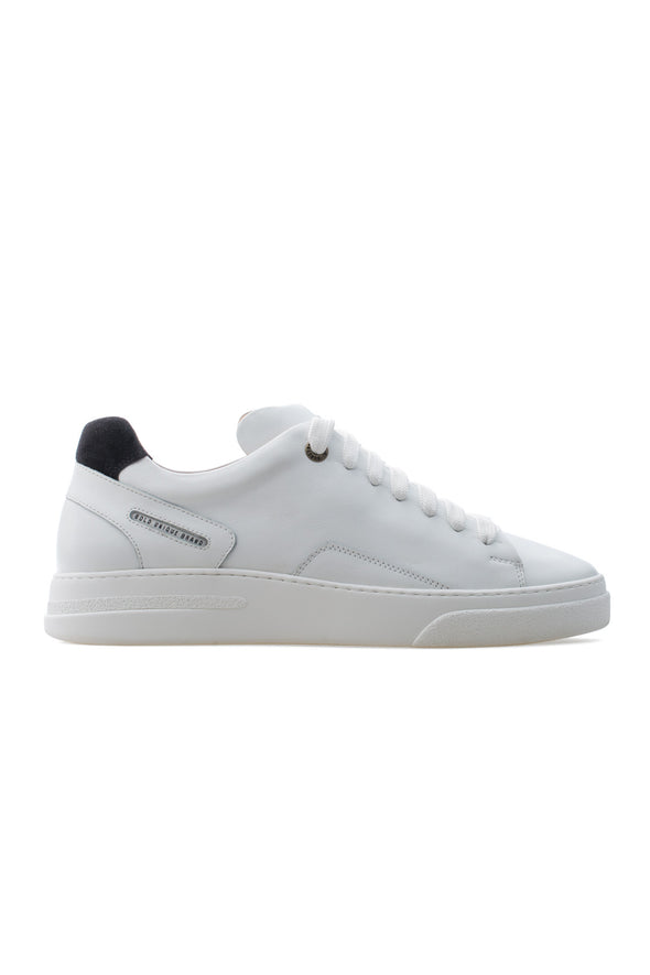 BUB Fleek - Pure White & Black - Calf Leather & Suede - Men's Sneakers - BUB Leather Shoes