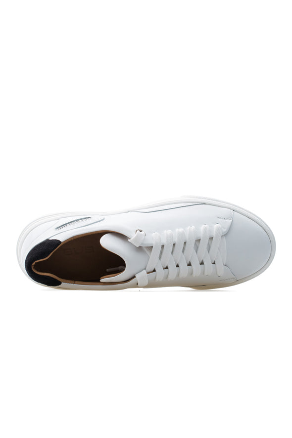BUB Fleek - Pure White & Black - Calf Leather & Suede - Women's Sneakers