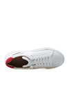 BUB Fleek - Pure White & Red - Calf Leather & Suede - Men's Sneakers - BUB Leather Shoes