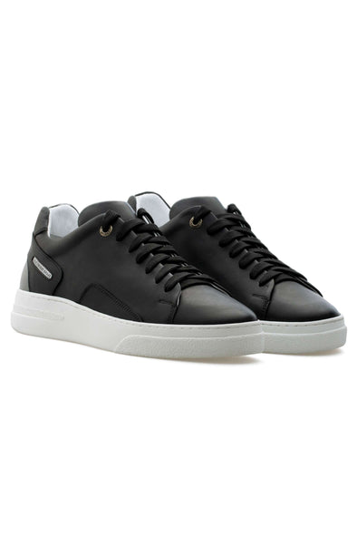 BUB Fleek - Black & Grey - Calf Leather & Reflector - Women's Sneakers