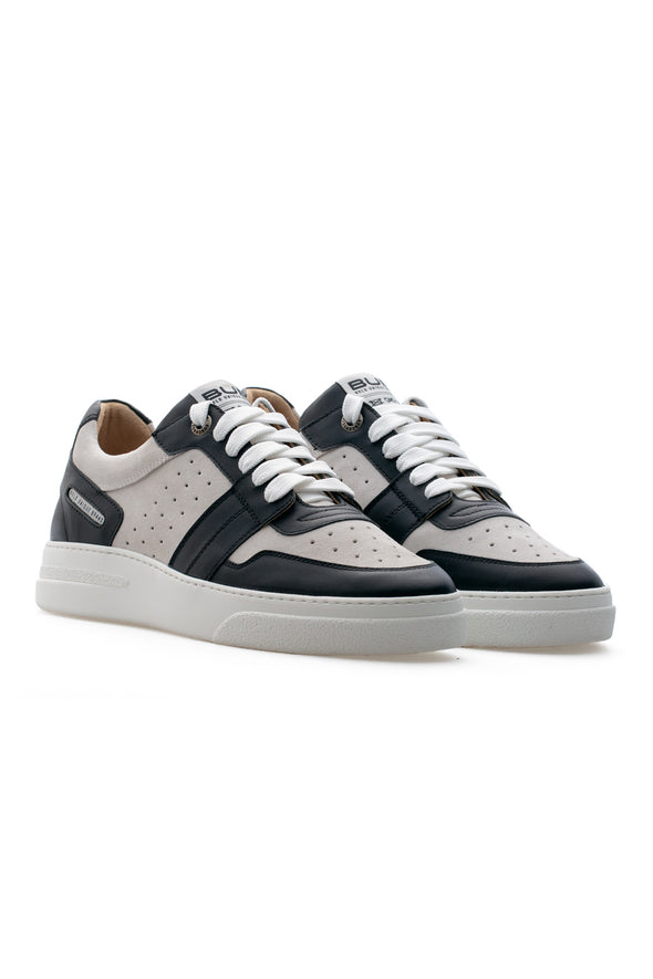 BUB Skywalker - Coal & Ash - Calf Leather & Suede - Men's Sneakers - BUB Leather Shoes