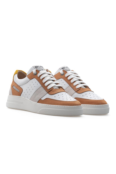 BUB Skywalker - Pina Colada - Nubuck & Calf Leather & Suede - Men's Sneakers - BUB Leather Shoes