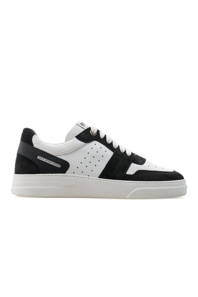 BUB Skywalker - Deep Black & White - Nubuck & Calf Leather - Men's Sneakers - BUB Leather Shoes