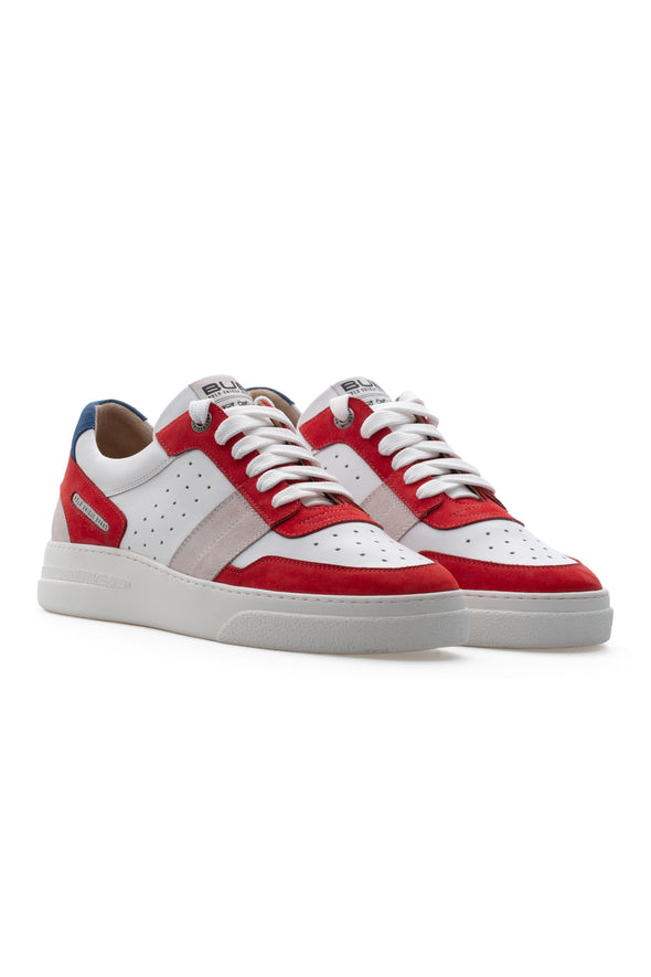 BUB Skywalker - Bloody Mary - Nubuck & Calf Leather & Suede - Men's Sneakers - BUB Leather Shoes