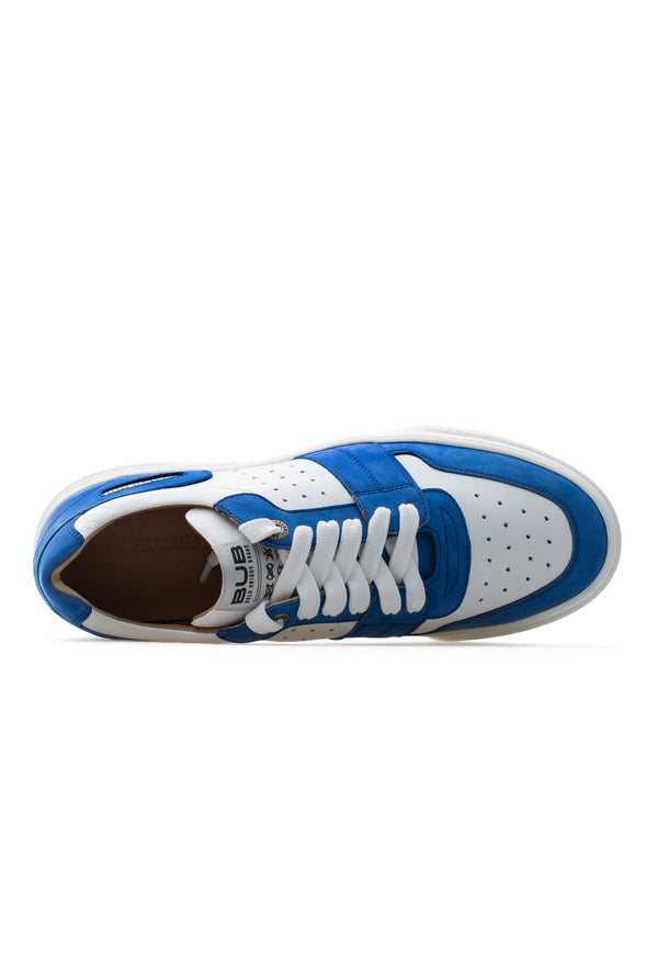 BUB Skywalker - Deep Ocean Blue & White - Nubuck & Calf Leather - Men's Sneakers - BUB Leather Shoes