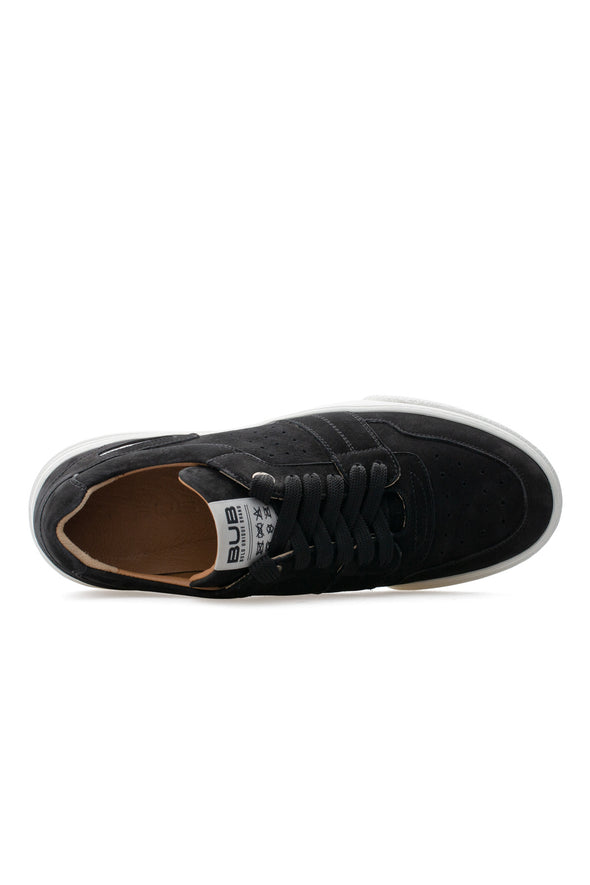 BUB Skywalker - Deep Black - Nubuck - Men's Sneakers - BUB Leather Shoes