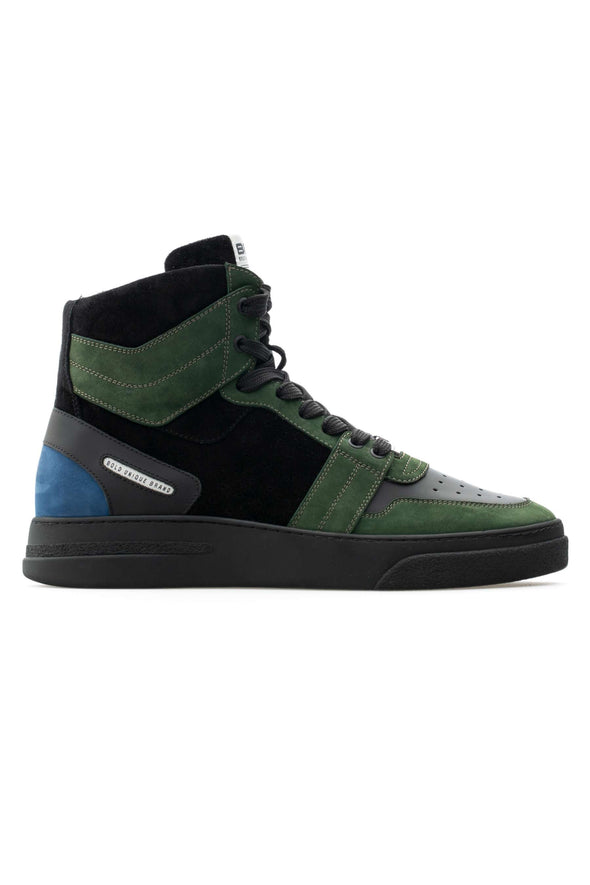BUB Skywalker - Bronzie Green - Nubuck & Calf Leather - Men's Sneakers