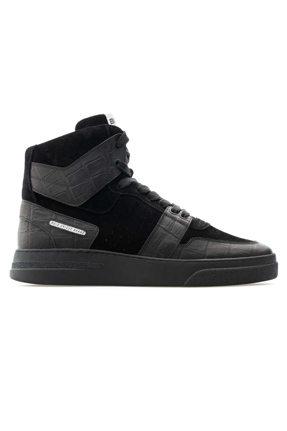 BUB Skywalker - Black Croc - Calf Leather (Embossed) & Suede - Men's Sneakers