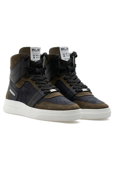 BUB Skywalker - Black Grape - Nubuck & Calf Leather - Women's Sneakers