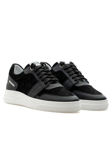 BUB Skywalker - Nero Opaco - Calf Leather & Suede - Women's Sneakers