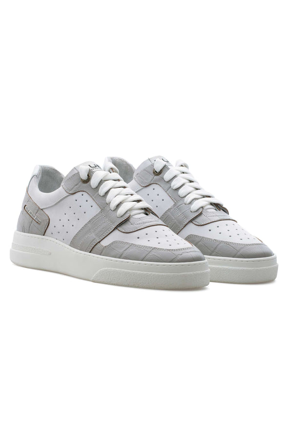 BUB Skywalker - Albino Croc - Calf Leather (Embossed) & Nubuck - Women's Sneakers