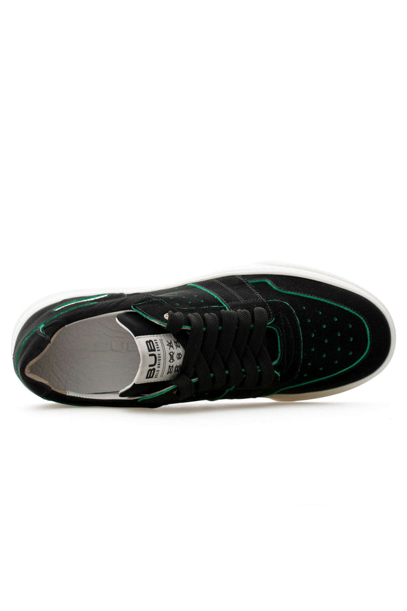 BUB Skywalker - Green Led - Nubuck - Men's Sneakers