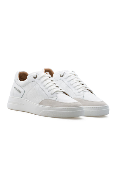 BUB Trill - Froth Milk - Calf Leather & Suede - Men's Sneakers - BUB Leather Shoes
