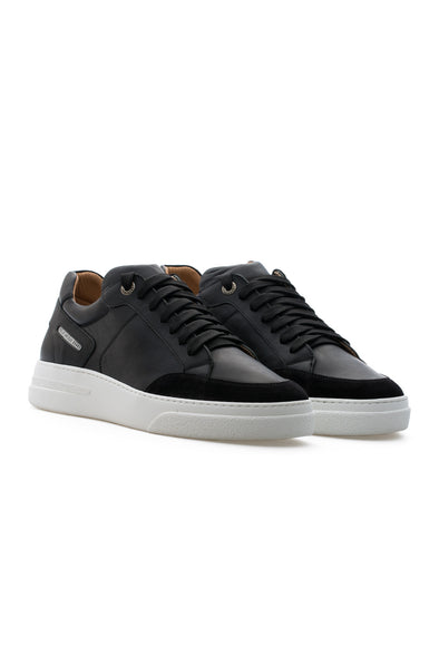 BUB Trill - Space Black - Calf Leather & Suede - Men's Sneakers - BUB Leather Shoes