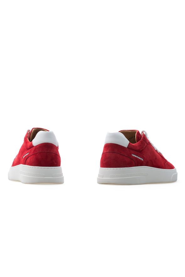 BUB Trill - Bloody Red - Suede - Men's Sneakers - BUB Leather Shoes