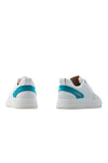 BUB Woke - Turquoise & White & Light Cream - Calf Leather & Suede - Women's Sneakers