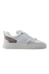 BUB Woke - Mink & White & Light Cream - Calf Leather & Suede - Men's Sneakers - BUB Leather Shoes