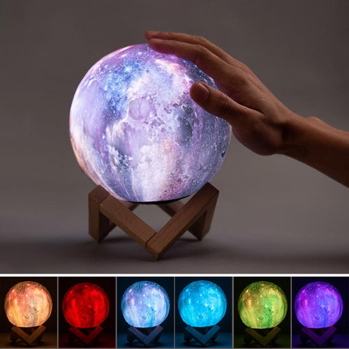 Color Changing 3D Moon Lamp