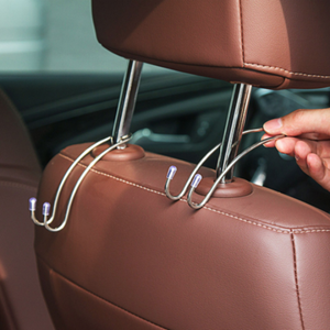 Metal Car Headrest Hooks (4 Pieces)
