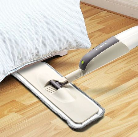 Rotatable Spray Mop With Reusable Microfiber Pad