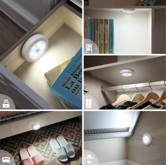 Wireless Motion Sensor LED Lamps (3 Pieces)