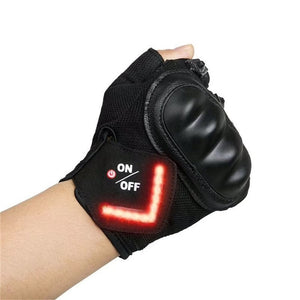 The World's First Cycling Gloves With Built-In LED Turn Signals