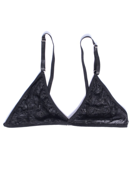 SEFRA dani black triangle lace bralette