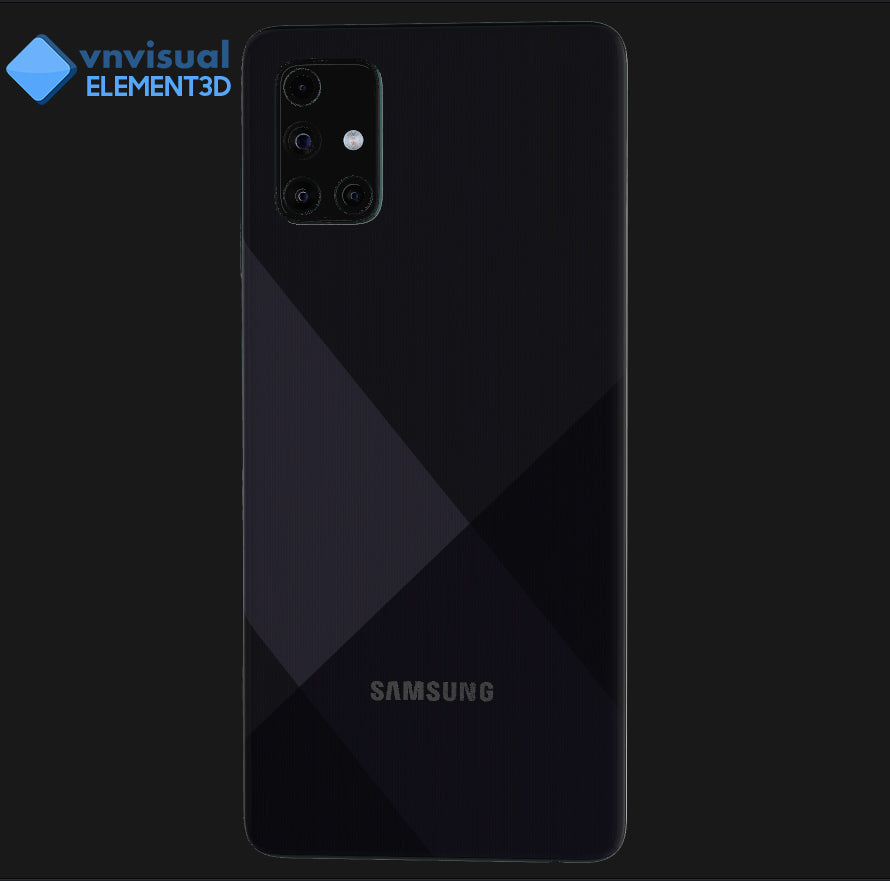 E3D - Samsung Galaxy A71 Prism Crush Black