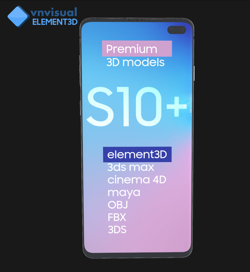 E3D - Samsung Galaxy S10 Plus Black
