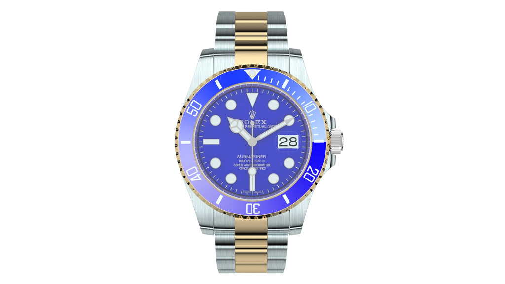 Rolex Submariner Date Oystersteel And Yellow Gold - Blue Plate