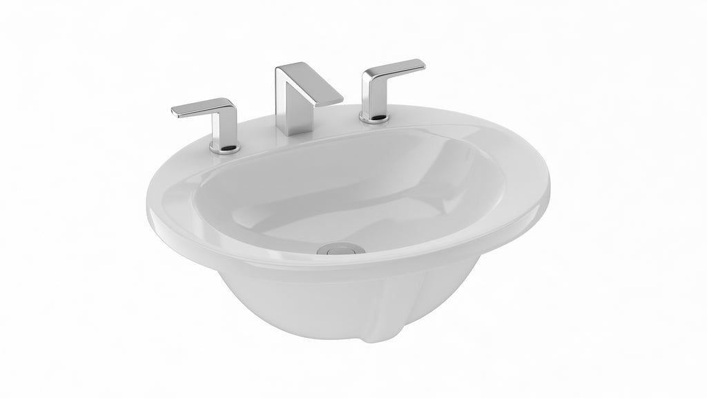 TOTO Self Rimming Oval Lavatory