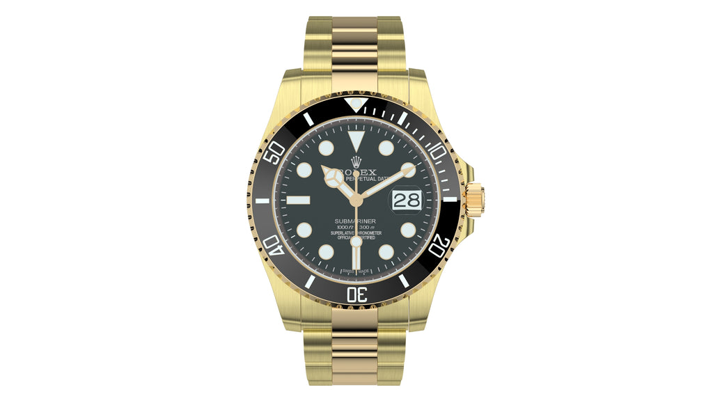 Rolex Submariner Date Yellow Gold Black Plate