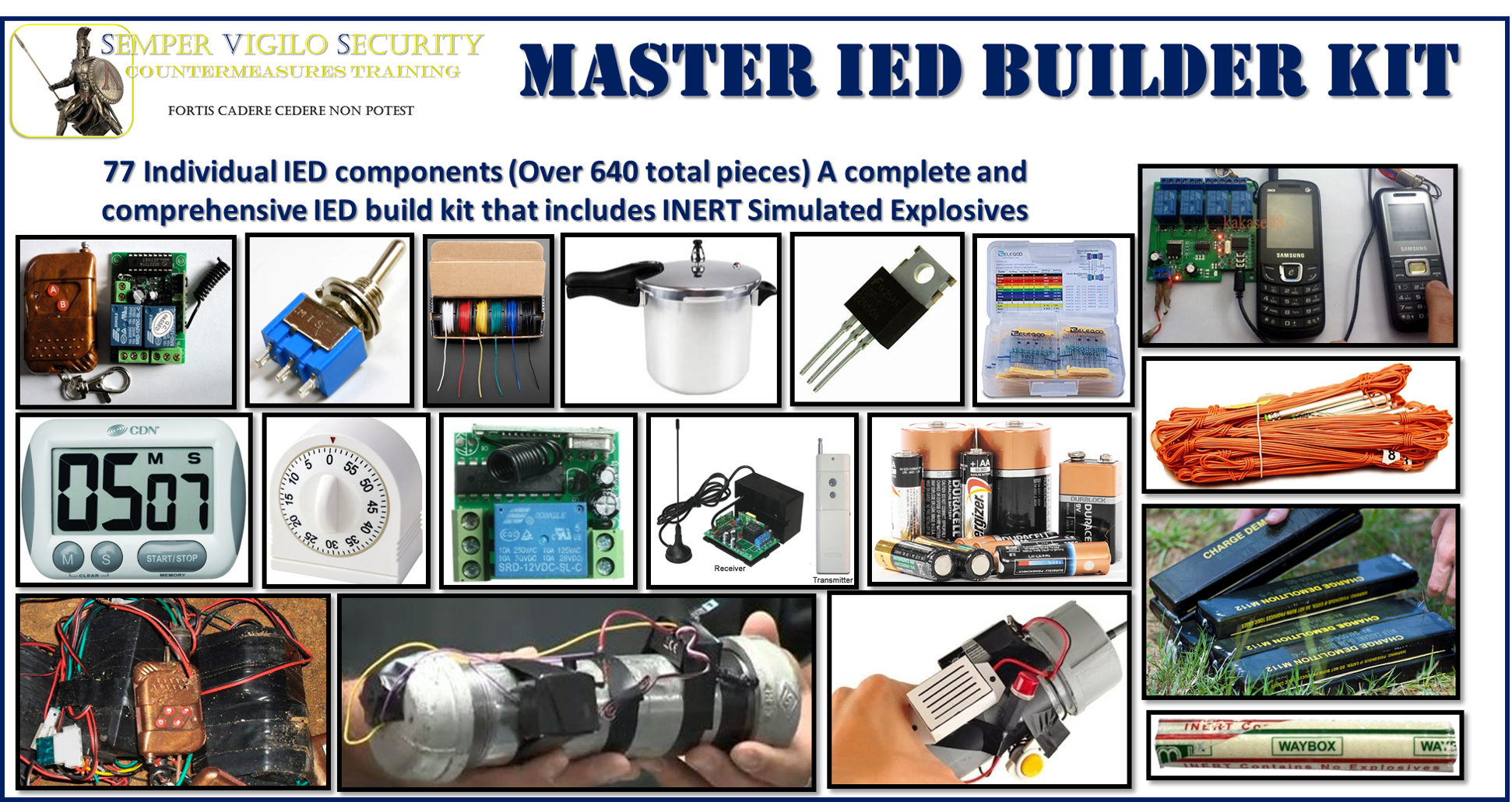 Improvised Explosive Device IED Circuit Builder Kit