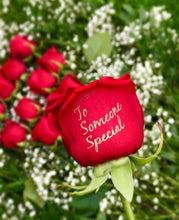 - Corporate Roses Bouquet with any Standard Phrase