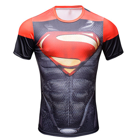 Compression Shirt Superman red