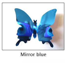 Decoration butterfly with miror effect (x12)