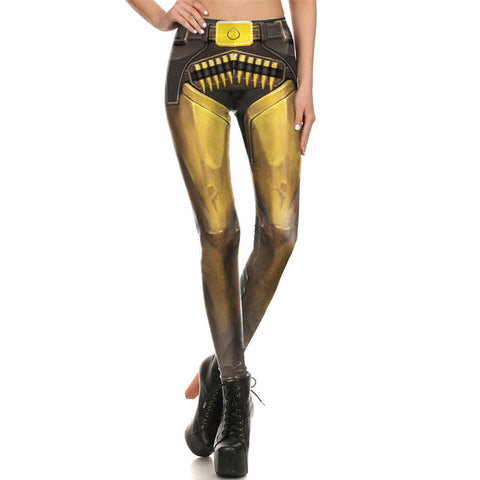 Legging gold & bullets