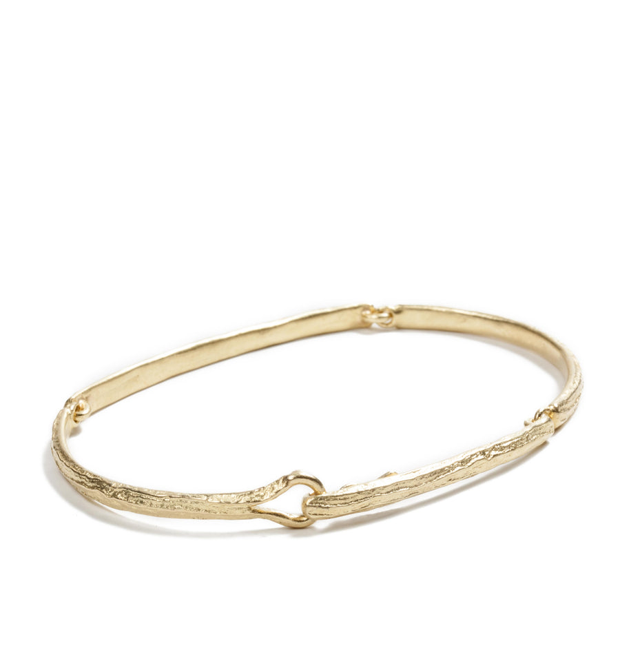 Plain Bark Gold Bracelet