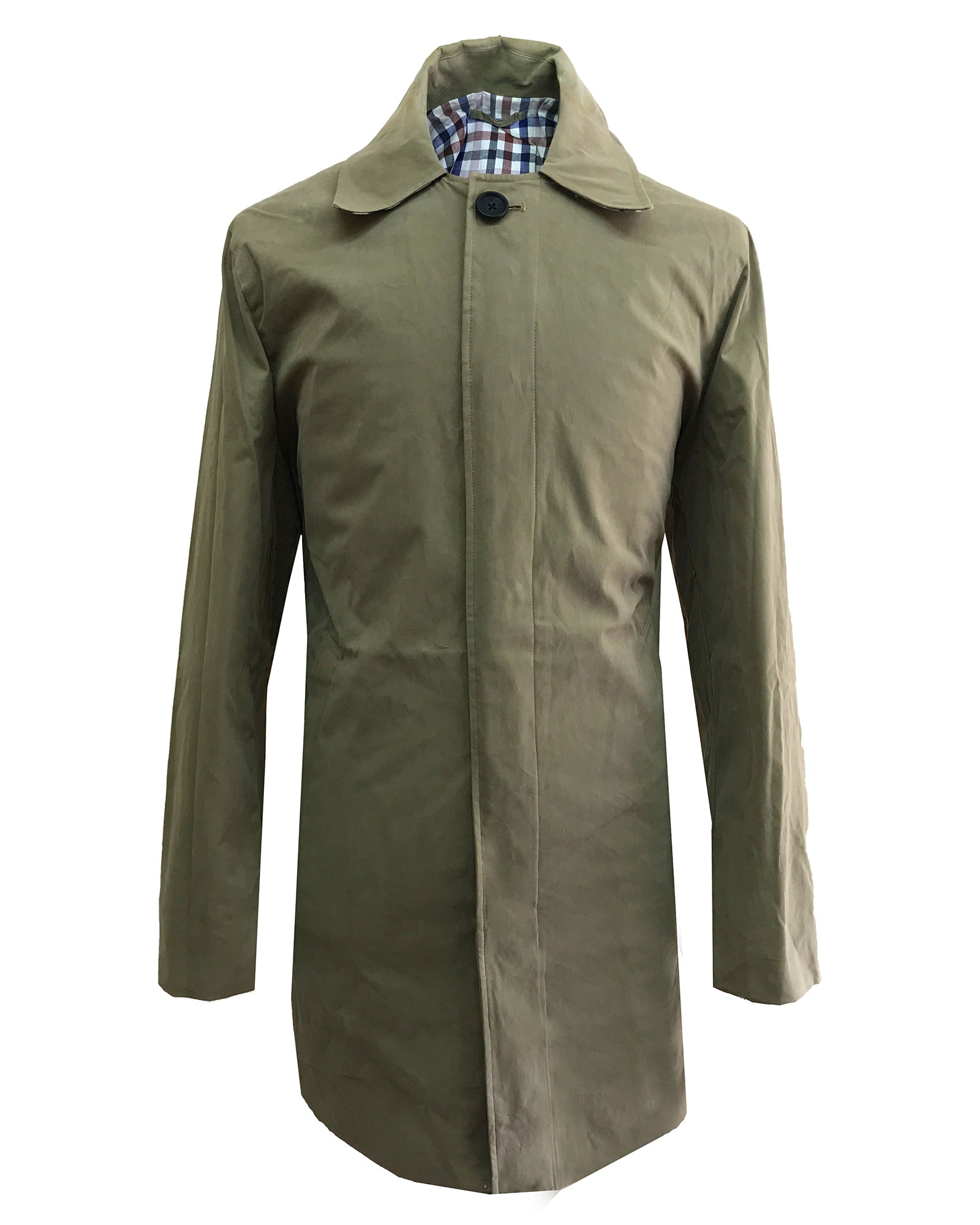 Men 3/4 Length Trench Raincoat - Beige