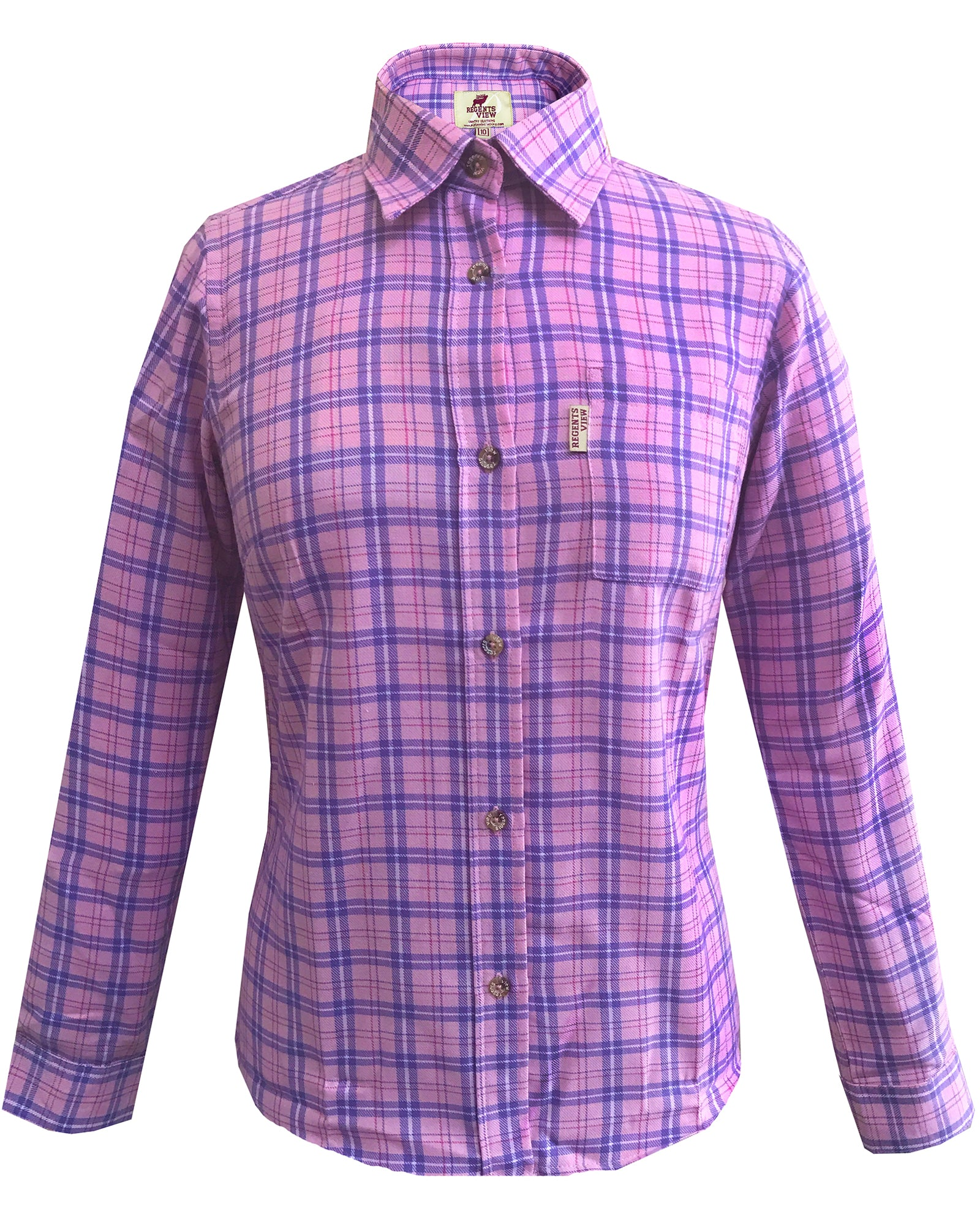 Regents View Women Superior Quality Long Sleeve Shirt - SHP1 Purple