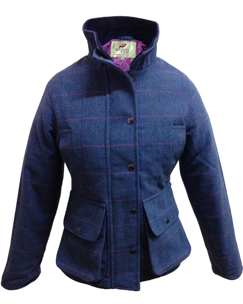 Regents View Women Premium Tweed Jacket - Blue