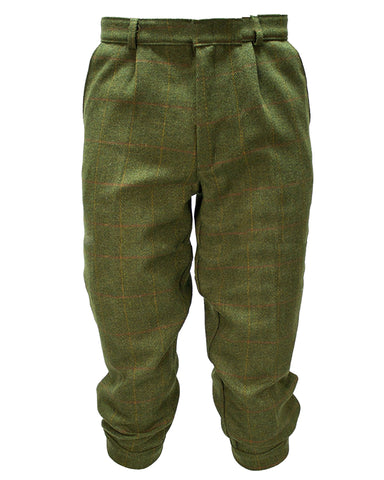 Clyde Valley Mens Superior Stitching Tweed Breeks - Olive