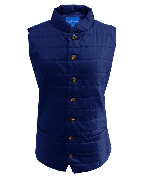 Quilted Multi-Pocket Water Resistant Zipped Bodywarmer Gilet - Navy