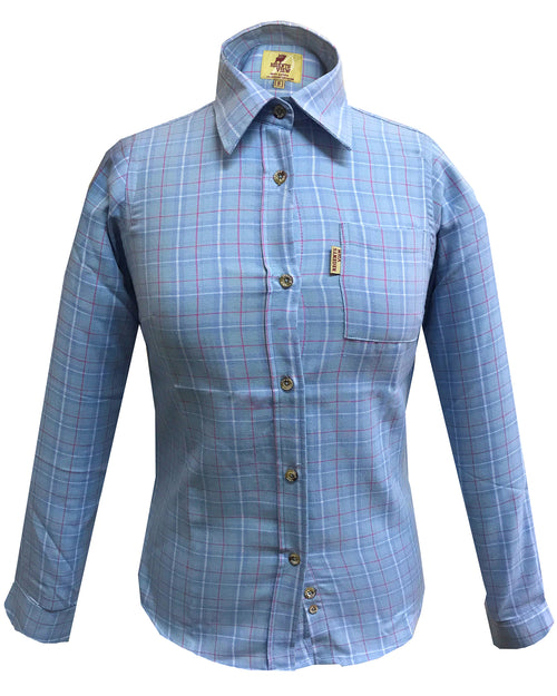 Regents View Women Superior Quality Long Sleeve Shirt - SHP1 Blue