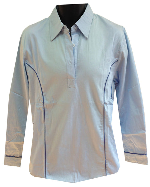 Regents View Women Lightweight Long Sleeve Summer Shirt - Light Blue